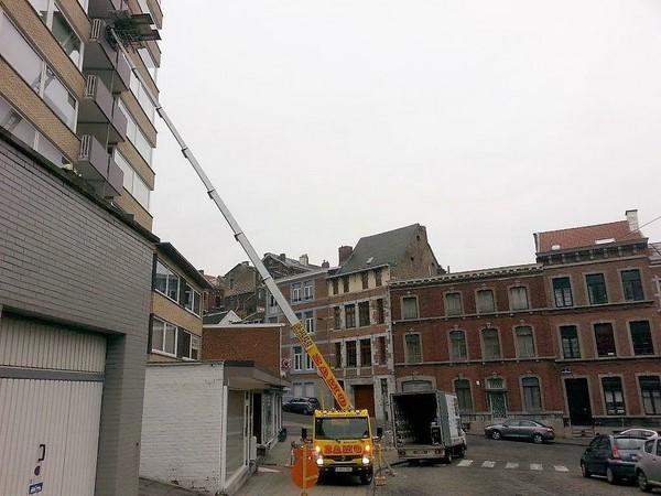 Service lift à Liège